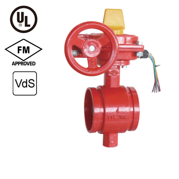 Grooved Butterfly Valve with Tamper Switch UL/FM/VdS Approved XD381X