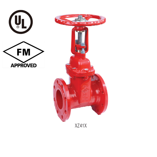DIN F4 Flanged Resilient OS&Y Gate Valve PN10/16, UL/FM Approved XZ41X